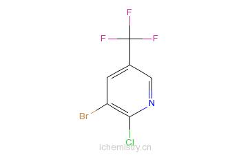 CAS:71701-92-3_3-溴-2-氯-5-三氟甲基吡啶的分子结构
