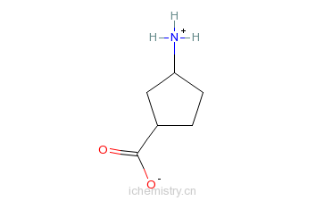 CAS:71830-07-4_(1S,3R)-3-氨基环戊羧酸的分子结构