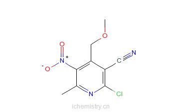 CAS:719-48-2_6-氯-5-氰基-4-甲氧甲基-2-甲基-3-硝基吡啶的分子结构