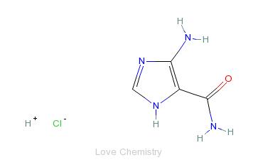 CAS:72-40-2_4-氨基-5-咪唑甲酰胺盐酸盐的分子结构
