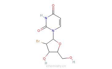 CAS:72218-68-9_2'-溴-2'-脱氧尿苷的分子结构