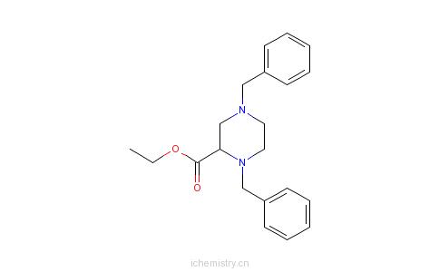CAS:72351-59-8_1,4-二苄基哌嗪-2-羧酸乙酯的分子结构