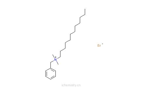 CAS:7281-04-1_十二烷基二甲基苄基溴化铵的分子结构