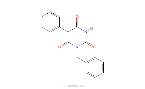 CAS:72846-00-5_1-苄基-5-苯基巴比妥酸的分子结构