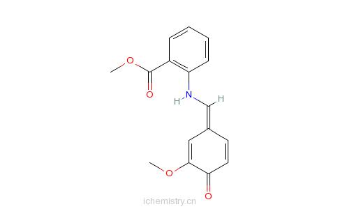 CAS:72927-84-5_2-[[(4-羟基-3-甲氧基苯基)亚甲基]氨基]苯甲酸甲酯的分子结构