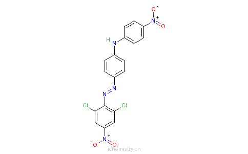 CAS:72927-94-7_4-[(2,6-二氯-4-硝基苯基)偶氮]-N-(4-硝基苯基)苯胺的分子结构