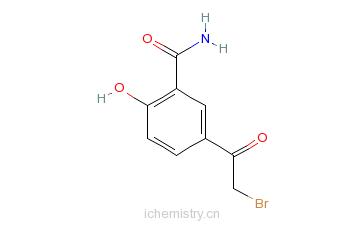 CAS:73866-23-6_5-溴乙酰水杨酰胺的分子结构