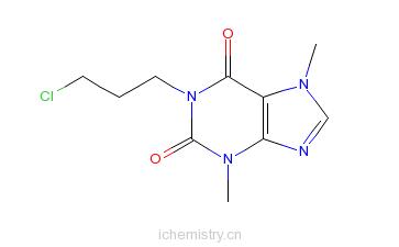 CAS:74409-52-2_1-(3-氯丙基)可可碱的分子结构