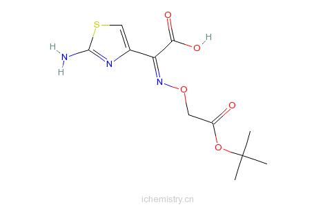 CAS:74440-02-1_(Z)-2-(2-氨基噻唑-4-基)-2-叔丁氧羰甲氧亚氨基乙酸的分子结构