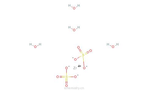 CAS:7446-31-3_硫酸锆四水合物的分子结构