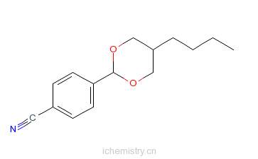 CAS:74800-54-7_4-5-(丁基-1,3-二氧环己烷-2-基)苄腈的分子结构
