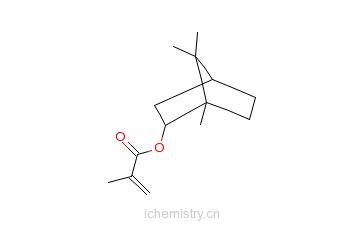 CAS:7534-94-3_甲基丙烯酸异冰片酯的分子结构