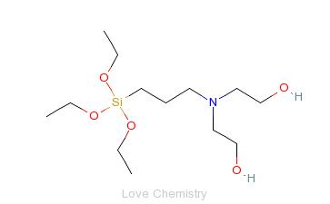 CAS:7538-44-5_3-[双(2-羟乙基)氨基]丙烷三乙氧基硅烷的分子结构