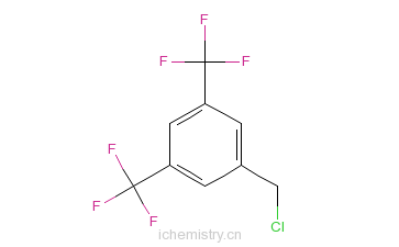 CAS:75462-59-8_3,5-双三氟甲基苄基氯的分子结构