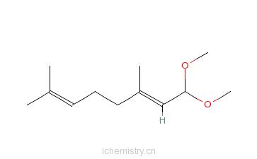 CAS:7549-37-3_1,1-二甲氧基-3,7-二甲基-2,6-辛二烯的分子结构
