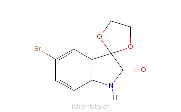 CAS:75822-54-7_5'-溴螺[1,3-二�f戊环并-2,3'-吲哚]-2'(1'H)-酮的分子结构