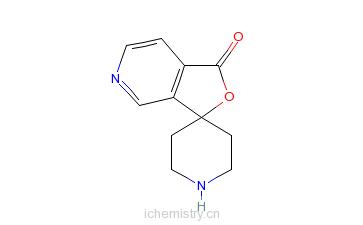 CAS:759452-96-5_螺[呋喃并[3,4-c]吡啶-3(1H),4'-哌啶]-1-酮的分子结构