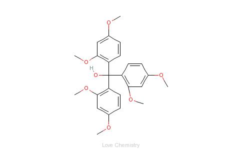 CAS:76832-37-6_三(2,4-二甲氧基苯基)甲醇的分子结构