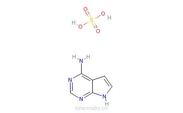 CAS:769951-32-8_4-氨基-7H-吡咯并[2,3-D]嘧啶硫酸盐的分子结构