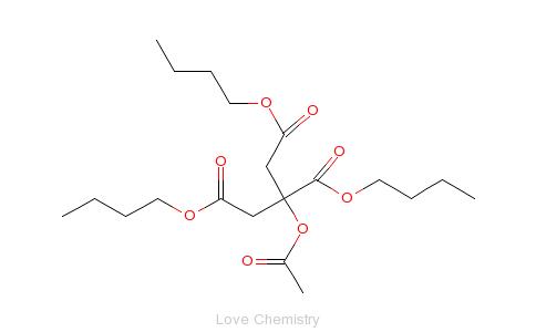 CAS:77-90-7_乙酰柠檬酸三丁酯的分子结构