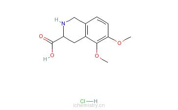 CAS:77141-34-5_5,6-二甲氧基-1,2,3,4-四氢-3-异喹啉甲酸盐酸盐的分子结构