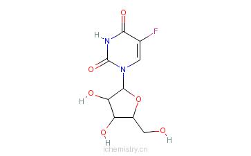 CAS:77180-80-4_5-氟尿嘧啶核苷的分子结构