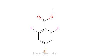 CAS:773134-11-5_4-溴-2,6-二氟苯甲酸甲酯的分子结构