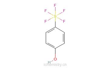 CAS:774-94-7_五氟化(4-苯酚基)硫的分子结构