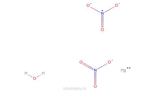 CAS:7783-34-8_硝酸汞一水合物的分子结构