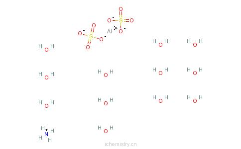 CAS:7784-26-1_硫酸铝铵十二水的分子结构