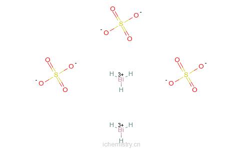 CAS:7787-68-0_硫酸铋的分子结构