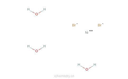 CAS:7789-49-3_溴化镍水合物的分子结构