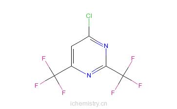 CAS:779-86-2_2,6-二三氟甲基-4-氯嘧啶的分子结构