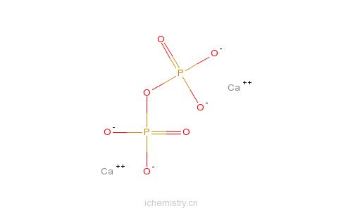 CAS:7790-76-3_焦磷酸钙的分子结构