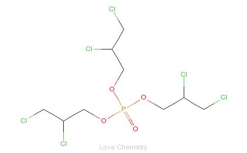 CAS:78-43-3_磷酸三(2,3-二氯丙基)酯的分子结构