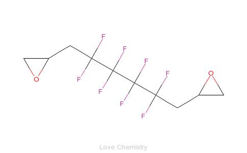 CAS:791-22-0_1,4-二(2',3'-环氧丙基)全氟丁烷的分子结构