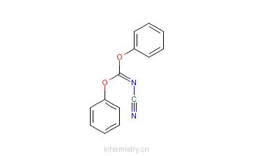 CAS:79463-77-7_N-氰基羰亚胺二苯基酯的分子结构