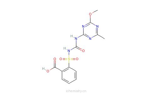 CAS:79510-48-8_甲磺隆(母酸)的分子结构