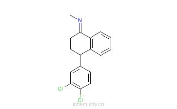 CAS:79560-20-6_4-(3,4-二氯苯基)-1-四氢-N-甲基-1-萘亚胺的分子结构