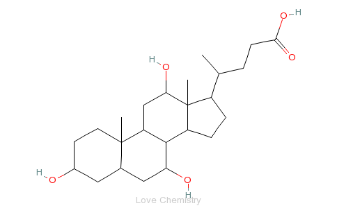CAS:81-25-4_胆酸的分子结构