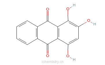 CAS:81-54-9_1,2,4-三羟蒽醌的分子结构