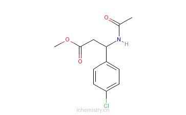 CAS:810670-03-2_(R)-N-乙酰基-4-氯-beta-苯丙氨酸甲酯的分子结构