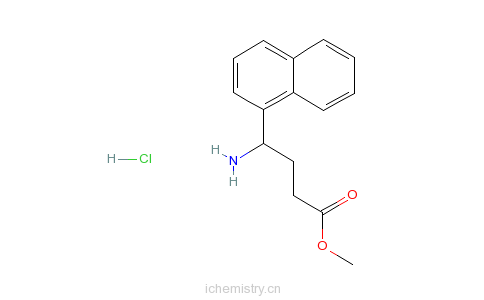 CAS:811842-01-0_4-氨基-4-萘-1-基丁酸甲酯盐酸盐的分子结构
