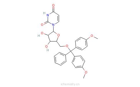 CAS:81246-79-9_5'-O-(4,4'-二甲氧基三苯甲基)尿苷的分子结构