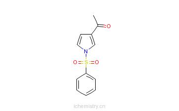 CAS:81453-98-7_3-乙酰-1-(苯磺酰基)吡咯的分子结构