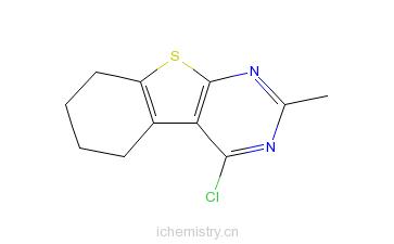 CAS:81765-97-1_4-氯-2-甲基-5,6,7,8-四氢[1]苯并噻吩[2,3-D]嘧啶的分子结构