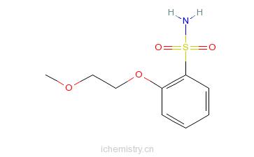 CAS:82031-33-2_2-(2-甲氧乙氧基)苯磺酰胺的分子结构