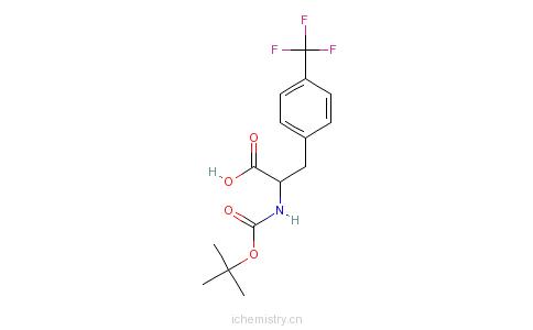 CAS:82317-83-7_BOC-D-4-三氟甲基苯丙氨酸的分子结构