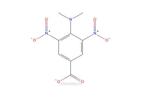 CAS:82366-55-0_4-二甲基氨基-3,5-二硝基苯甲酸的分子结构
