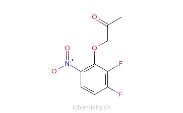 CAS:82419-32-7_2-丙酮氧基-3,4-二氟硝基苯的分子结构